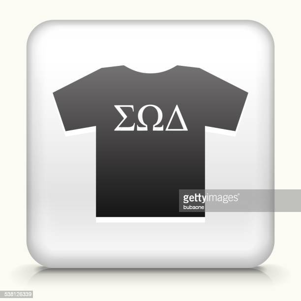 Square Button with Frat TShirt royalty free vector art
