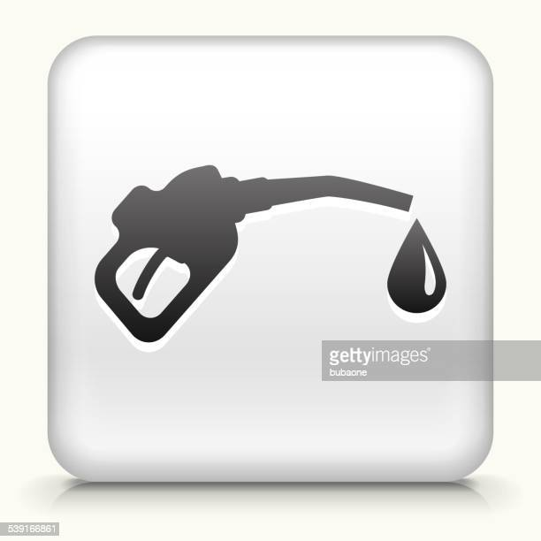 Square Button with Gas Pump royalty free vector art