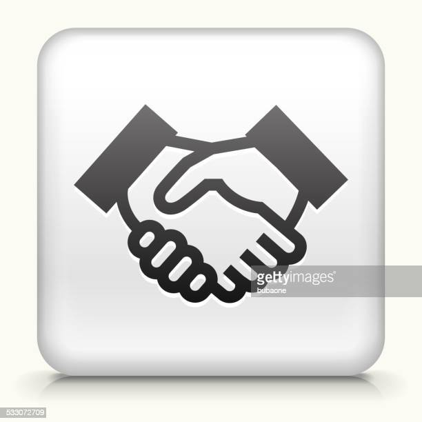 Square Button with Handshake