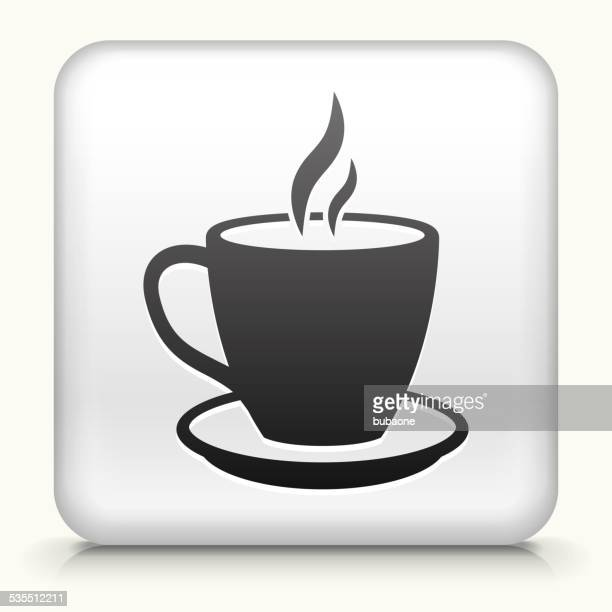Square Button with Hot Drink royalty free vector art