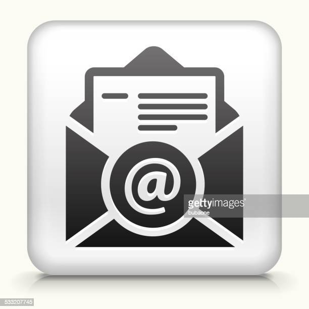 Square Button with Online Resume royalty free vector art