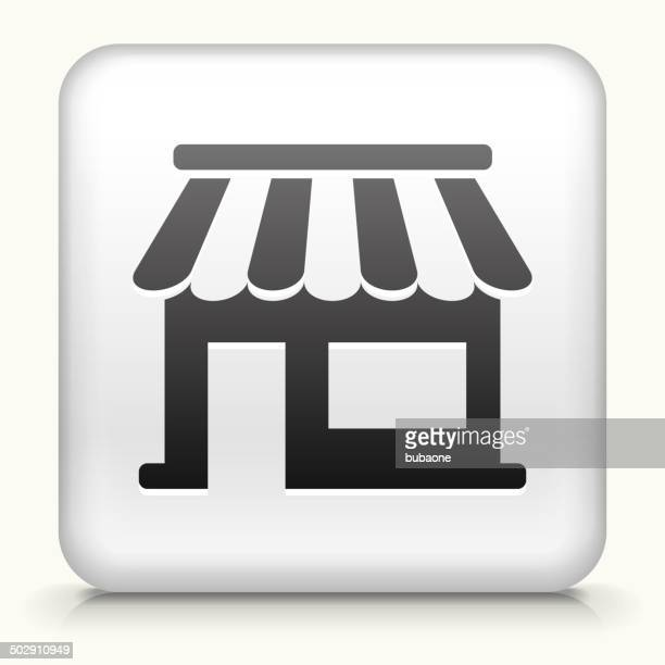 Square Button with Store royalty free vector art