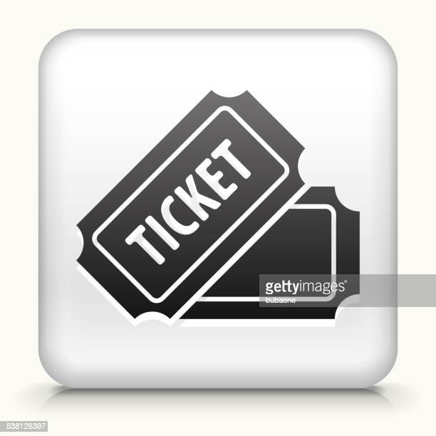Square Button with Ticket royalty free vector art
