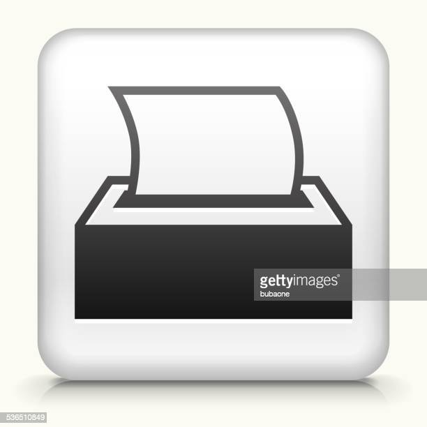 Square Button with Tissue royalty free vector art