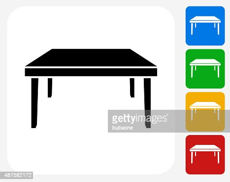 Square table icon flat graphic design vector art getty for Table design graphic