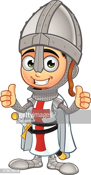 St George Boy Knight - Two Thumbs Up : Vector Art