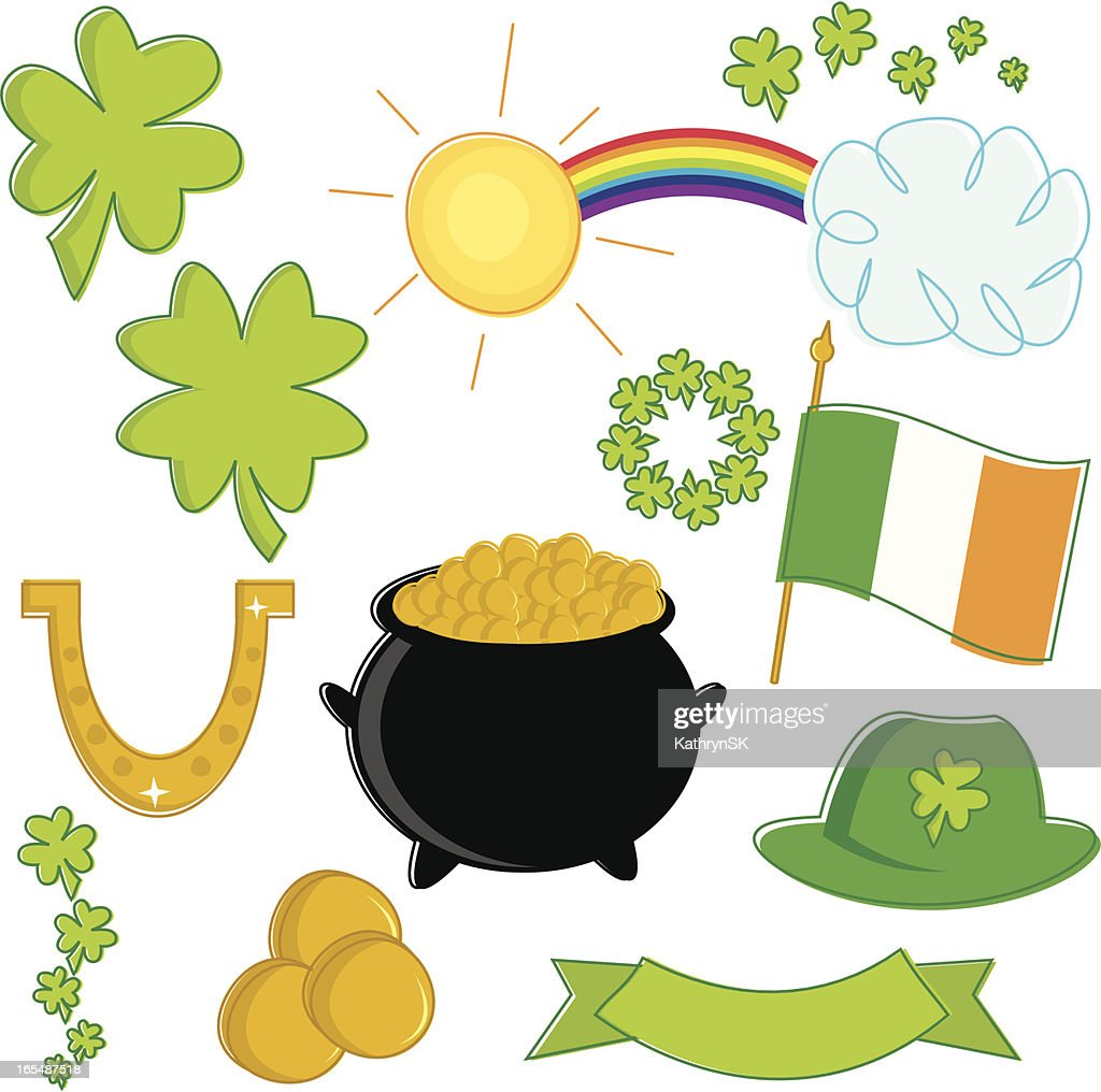 st patricks day essentials vector art getty images