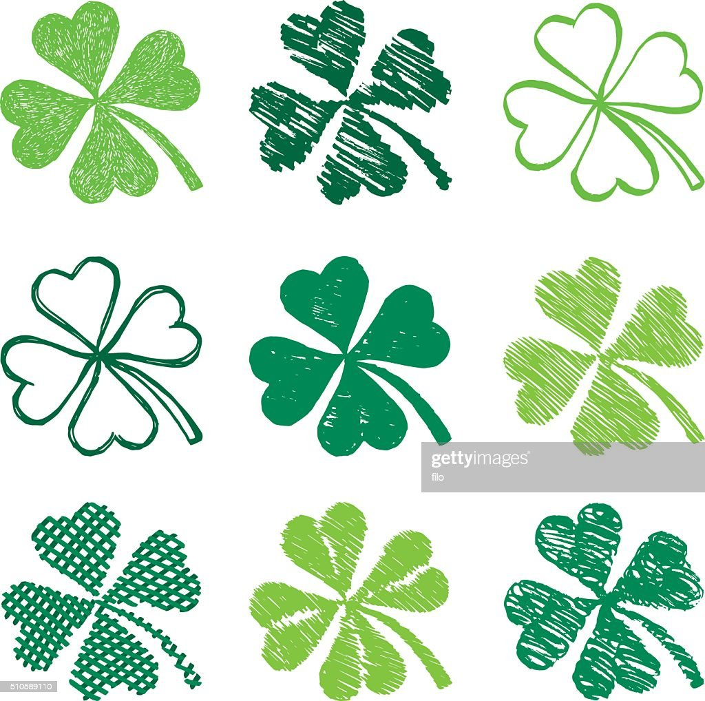 st patricks day shamrock symbols vector art getty images