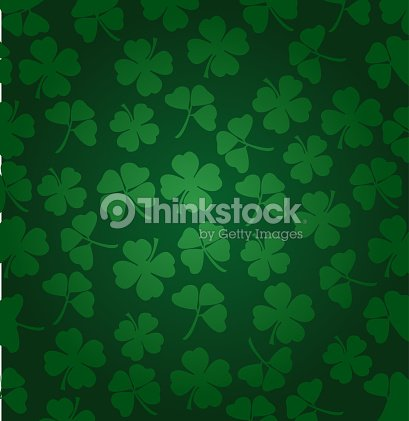 St. Patrick's day vector background with shamrock : stock vector