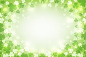 St. Patrick's glowing abstract background. vector illustration.