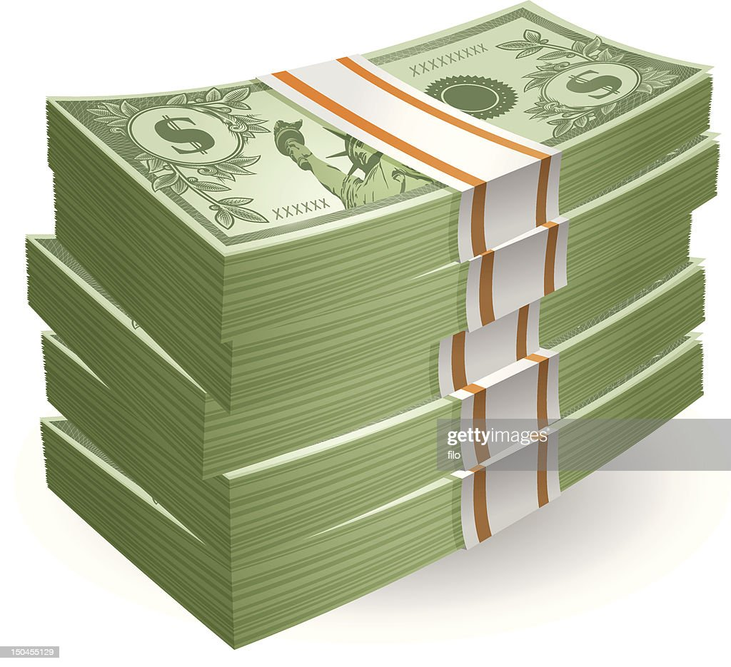 Stack of Cash : Vector Art