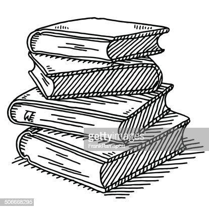 Pile De Quatre Livres De Dessin Clipart vectoriel | Getty ...
