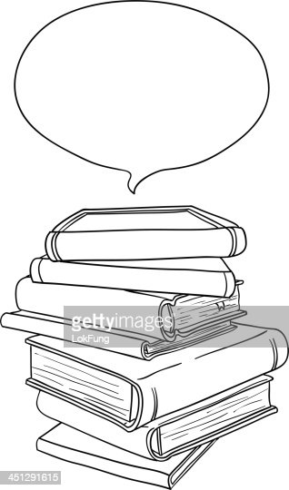 stacking books in black and white vector art | getty images
