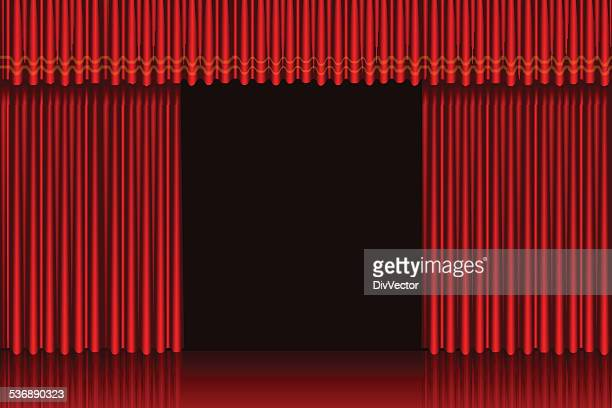 Stage curtain slightly open