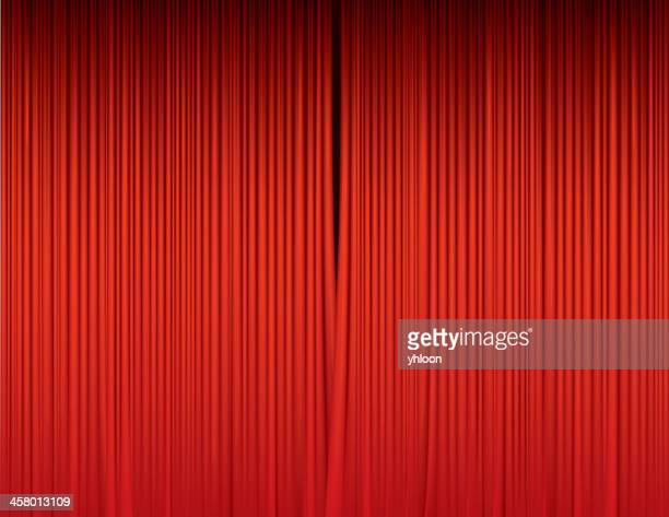 Stage curtains unveil