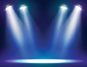 Stage lights background for web and mobile devices