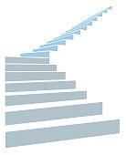 Stair as a symbol of height is in infographic