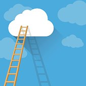 Ladder to clouds of success