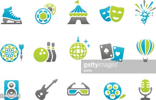 Stampico icons - Media and Entertainment : Vector Art