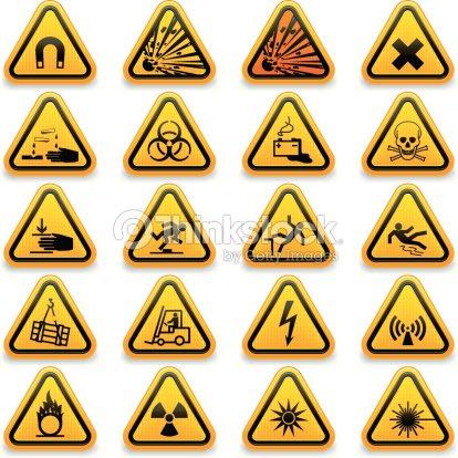 Standard Hazard Symbols Vector Art Thinkstock