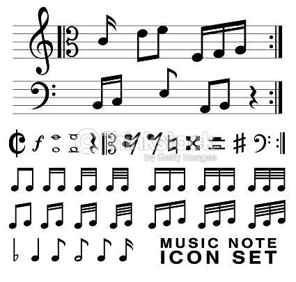 Standard Music Notes Symbol Set Vector Eps10 Vector Art Thinkstock