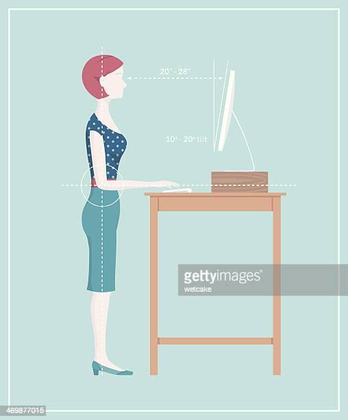 Pie escritorio postura