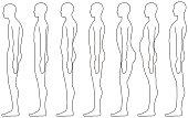 standing human, Side posture.