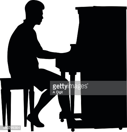 Standup Piano Player Vector Art | Getty Images