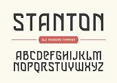 Stanton decorative vector vintage retro typeface, font, alphabet letters, typeface, typography design