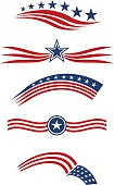 USA star and stripes  icon set design elements vector