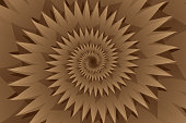 Star brown abstract vector pattern, Concentric star shapes - brown