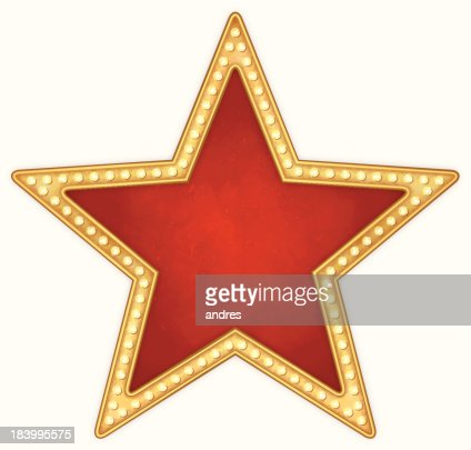star frame with lamps vector art