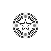 star medal icon. Element of award sign for mobile concept and web apps illustration. Thin line icon for website design and development, app development. Premium icon on white background