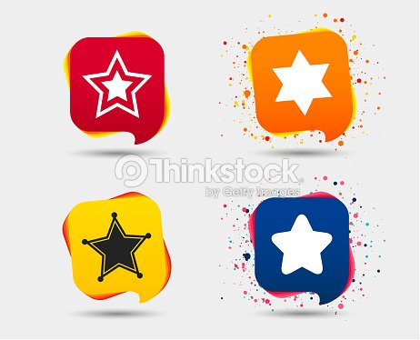 Star Of David Icons Symbol Of Israel Vector Art Thinkstock