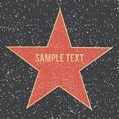 Star on granite floor. Vector illustration