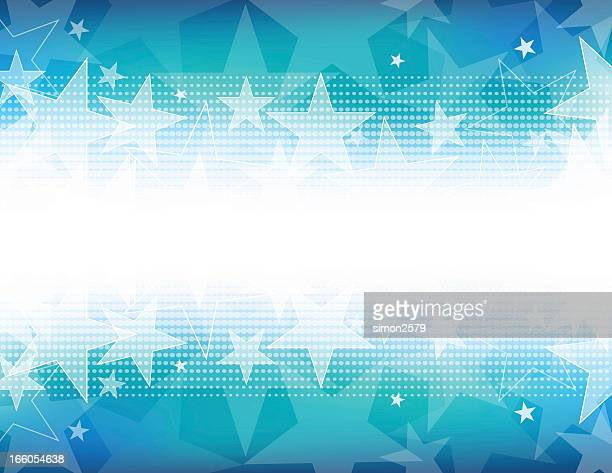 Star shape background with white out on the center horizon