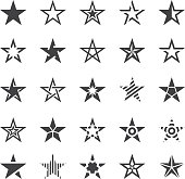Vector Illustration of Star Shape Icons
