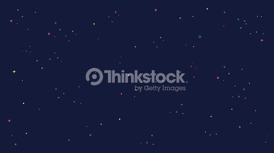 star universe background illustration. Flat design for kid. : stock vector