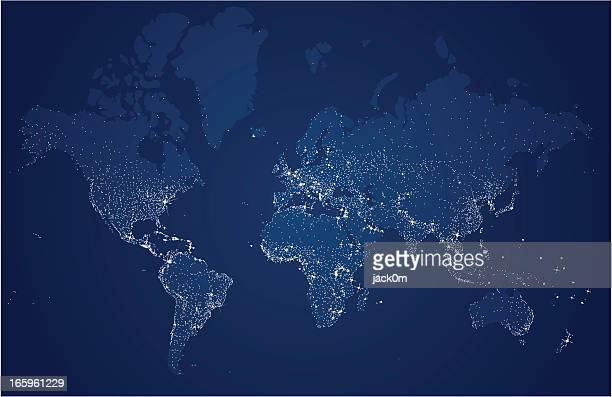 Starry World, Earth's city lights map