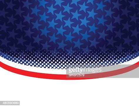 USA stars and stripes : Vector Art