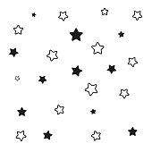 Stars. Background vector