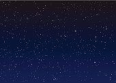Stars in the night sky vector