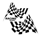 Starting and finishing flags. Auto Moto racing. Checkered flag..