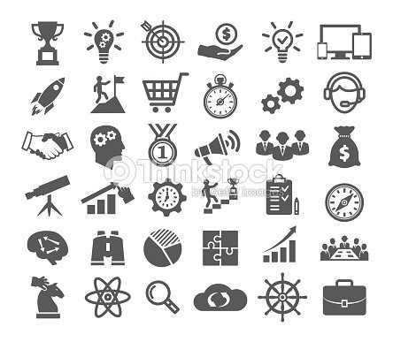 Startup icons set : stock vector