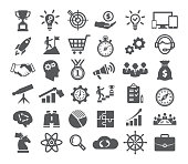 Startup icons set on white background