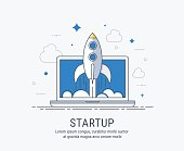 Startup flat modern vector illustration for web.