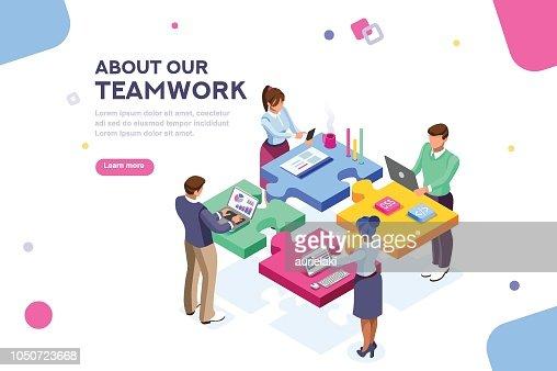 Startup Website Template Banner : stock vector