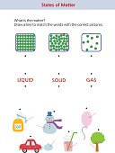 A worksheet about the states of matter