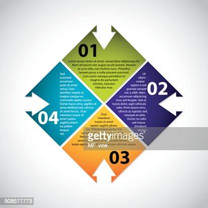 Stationary design with options and descriptions : Vektorgrafik