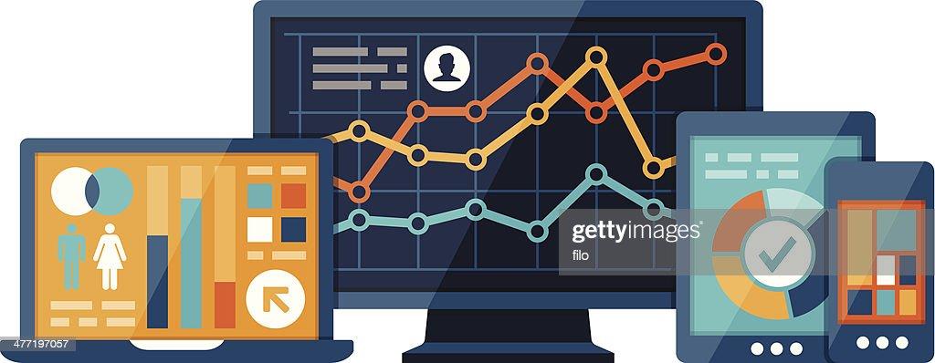 Statistics and Analysis : Vector Art